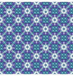 Christmas knitting pattern with snowflackes vector
