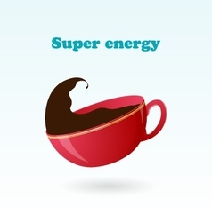 Concept and idea of super beverage vector image vector image