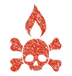 Death ignition icon grunge watermark vector