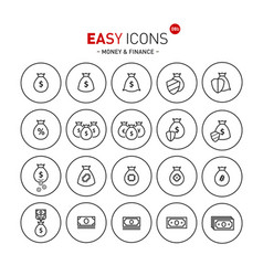 easy icons 08b money vector image vector image