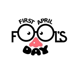 First april fools day vector