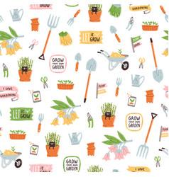 garden theme pattern vector image vector image