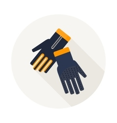 gloves for diving vector image vector image