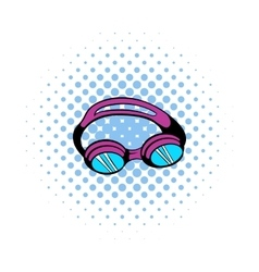 Goggles for swim icon comics style vector