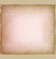 Golden ratio on old vintage background vector