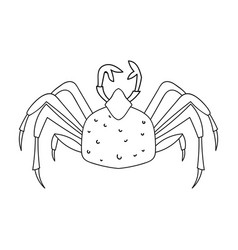 king crab icon in outline style isolated on white vector image