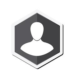 Man icon vector