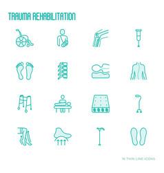 orthopedic and trauma rehabilitation vector image