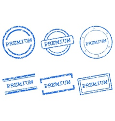 Premium stamps vector image vector image