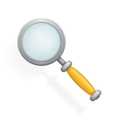 Realistic Magnifying Glass Loupe Icon Search vector image vector image