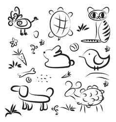 simple sketch pets vector image