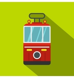 Traditional turkish public tram icon flat style vector