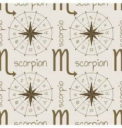 Astrology sign scorpion seamless pattern vector