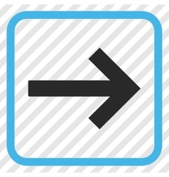 Right arrow icon in a frame vector