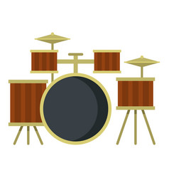 drum setting icon isolated vector image