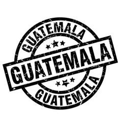 Guatemala black round grunge stamp vector