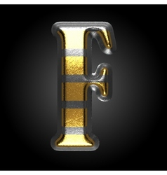 Silver and golden figure f vector