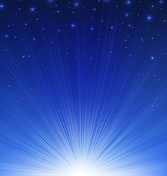 Blue sunburst poster vector