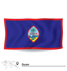 Flag of guam vector