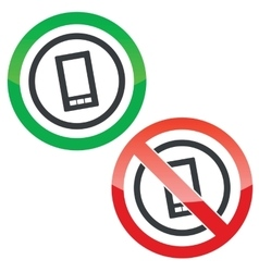 Smartphone permission signs vector