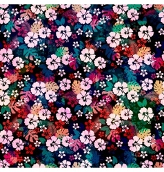 Hawaiian tropical floral seamless pattern vector