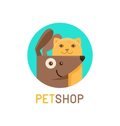 Logo design template for pet shops veterinary vector