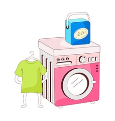 A view of washing machine vector image vector image