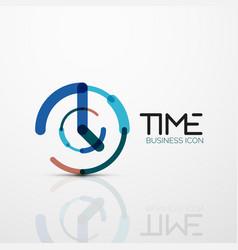 Abstract logo idea time concept or clock vector