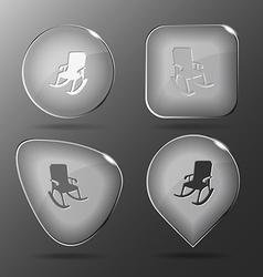 Armchair glass buttons vector