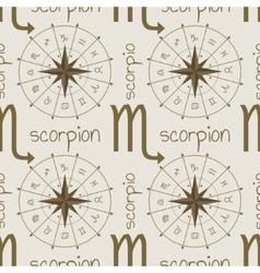 Astrology sign scorpion seamless pattern vector