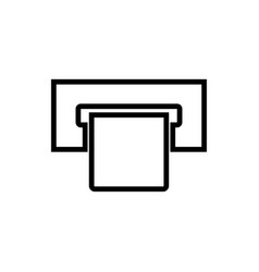 Atm card slot black color icon vector