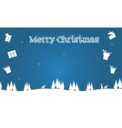 Backgrounds merry christmas of silhouette gift vector