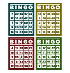 Bingo retro cards vector