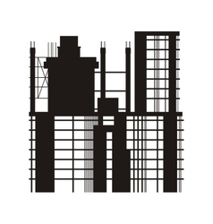 building under construction icon vector image
