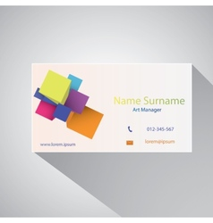 Calling card of art manager vector