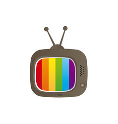 color background with tv set vector image