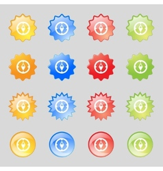 Compass sign icon Windrose navigation symbol Set vector image vector image