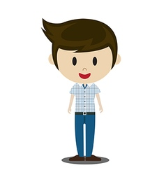 cute cartoon of young people in stylish casual vector image vector image