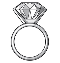 Diamond ring - ring with diamond vector