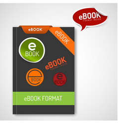 Ebook markers - stickers corners labels vector