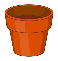 Flower pot icon cartoon style vector