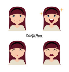 Girl expression face vector