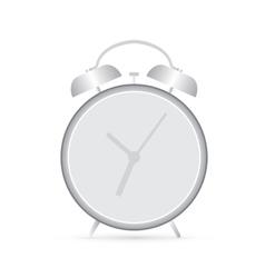 gray clock alarm vector image