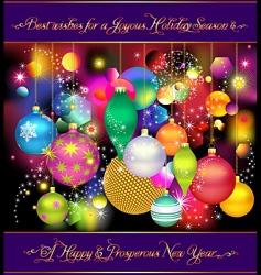 joyous holidays vector image vector image