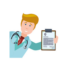 medical report document vector image