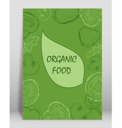 Organic food brochure for design vector image