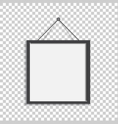 Realistic photo frame isolated on isolated vector