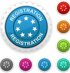 Registration award vector