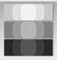 Set monochrome background banners vector