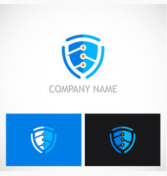 shield guard technology logo vector image